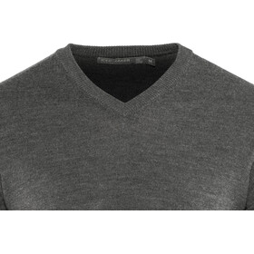 Icebreaker Shearer V-Neck Sweater Men Charcoal Heather
